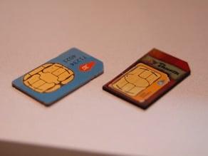 Lasercutter Micro-Sim Card in Mini-Sim Card Adapter