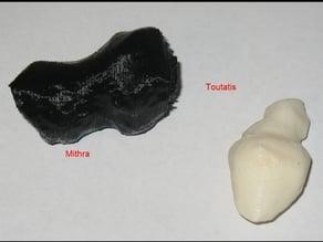 Asteroid models - Toutatis and Mithra