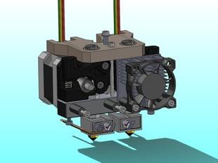 MK8 Adjustable Dual Extruder upgrade