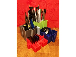 puzzle pen holder sd