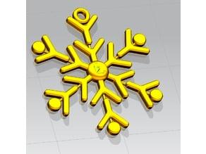 Fiocco di Neve, decorazione, orecchino, portachiavi  - Snowflake, decoration, earring, keychain