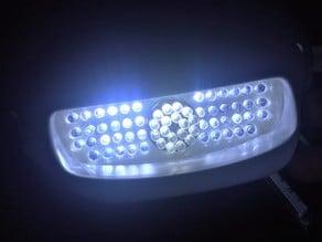 Interieur du phare de la Scorpa SY 250 en LED