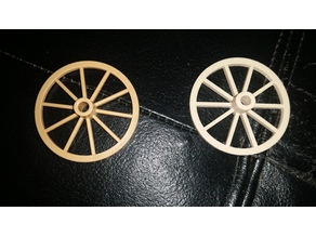 Wagon wheels for 1988 Playmobil cannon and limber (nr 3729)
