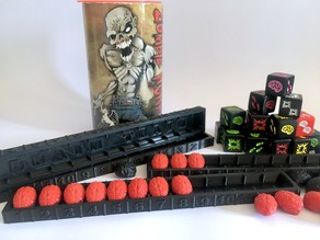 Score kepping tray for Zombie Dice