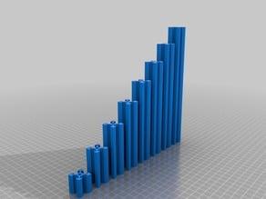 CNC / 3D Printer Parts - 2020 V Slot Linear Profile - 25mm - 200mm
