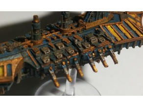 Battlefleet Gothic - Spikes for Italianmoose's Chaos Weapons