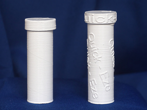 QuickEze or plain tube for 19mm dia tablets