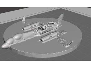 Robotech UN Spacy CATS EYE RECON Wreckage Objective Marker