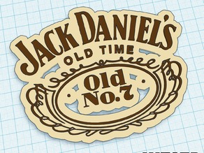 Jack Daniels - Logo Art - We3dUK