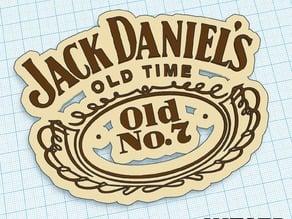 Jack Daniels - Logo Art - We3dUK
