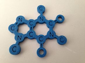 This is the caffeine molecule, you can use it as a coffee mug placemat