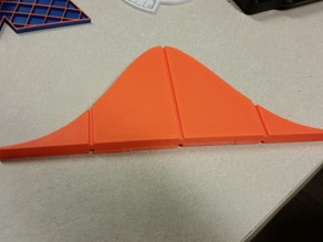Normal Distribution with Halfway Markers