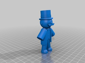 Monopoly man Original is made by H. Mulder via Tinkercad
