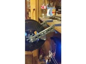 Spool holder for 19mm thick shelf