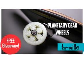 Edited Planetary Gear Skateboard Wheels