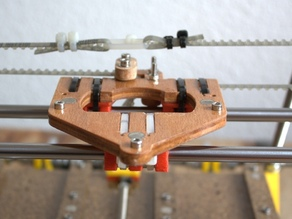 Lm8uu quick release carriage for Prusa Mendel
