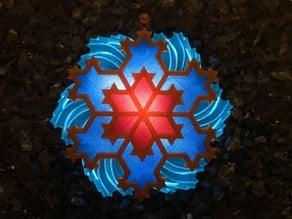 Koch Snowflake 4 Ornament 3-color