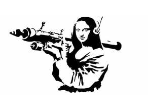 Mona Lisa Bazooka stencil