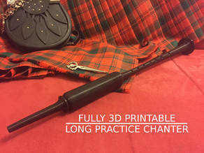 Long Practice Chanter (fully printable) for Highland Bagpipe