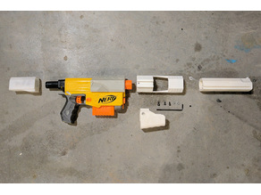 Nerf Recon pump action mod