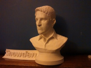 Snowden Bust (FDM printable with name-plate)