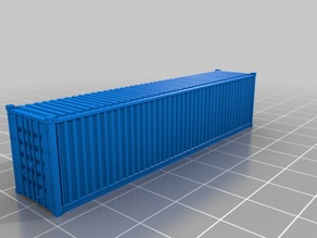 40' standard container in 1:160 scale