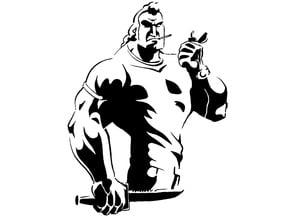 Brock Samson stencil
