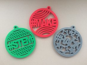 Make / Hack / STEM Christmas Hangers
