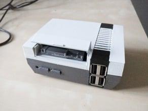Mini NES Raspberry Pi Case 4 front USB