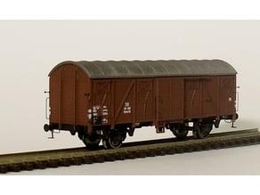 Gedeckter Güterwagen Glmhs 50 der DB in 1:160