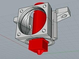 J-head cooling shield for 30mm fan