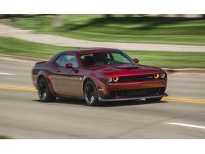 Dodge challenger hellcat lithophane