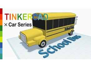 School bus with Tinkercad
