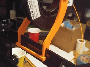 Prusa i3 Acrylic frame spool mount