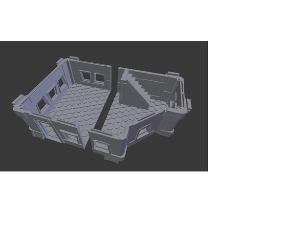 Modular Scifi Habs Remix (28mm scale prepare for print)