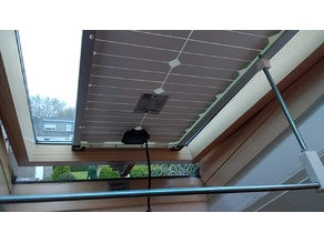 Solar panel window frame