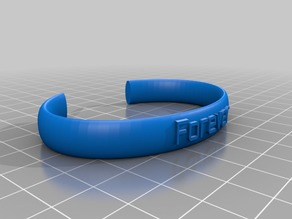 My Customized Ellipse Message Band