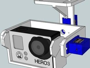 Basic Gopro 3 Gimbal for the DJI Fx50 frame V1