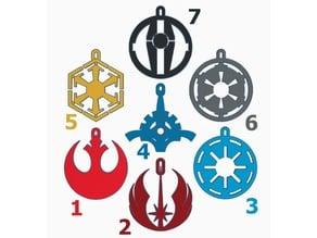 Ei9ht Christmas Balls Star Wars Emblems