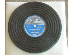 Generic record platter coaster