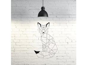 Fox II wall sculpture 2D