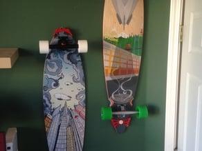 Longboard wall hangers