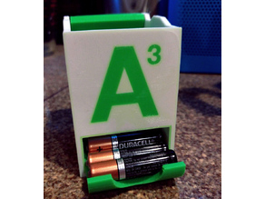 Stackable Battery Holders - Flush Labels for Multi Extrusion