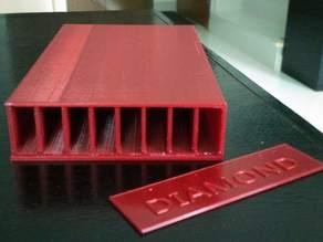 Box for Diamond plated hones (For Ruixin type sharpener / Edge Pro Format)