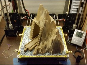 wood train montains tunnel ( low poly ) mountain . brio / ikea tunel