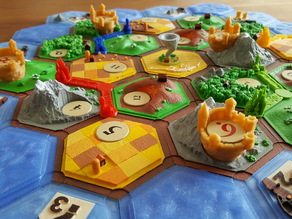 Castles on catan (variant: settler of catan)