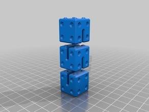 Raster Cube Snake Toy