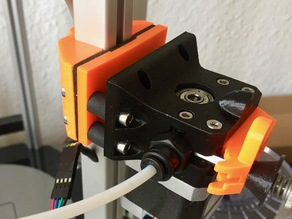 Alternative bowden extruder mount for Delta Hexagon V2