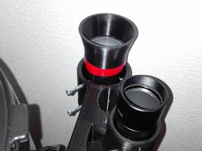 Dual support for 50mm & 40mm finder scope for Autoguiding (Astronomy / Telescope / Newton)