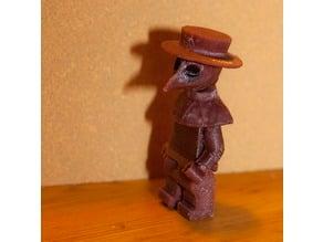 Plague Doctor Minifigure Head v1